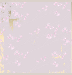 delicate floral cherry blossom pattern on vintage vector image