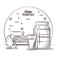 delicious breakfast food vector image