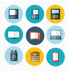 different computers vector image