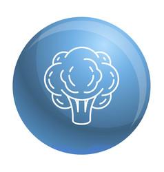 eco broccoli icon outline style vector image
