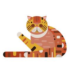 Exotic shorthair persian cat in flat design vector