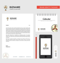 fan business letterhead calendar 2019 and mobile vector image