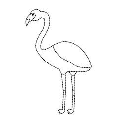 flamingo exotic bird decorative flat design vector image