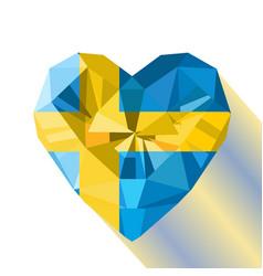 Flat style logo symbol of love sweden vector