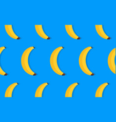 Fruit pattern of yellow bananas vector