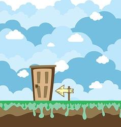 game platform world with door vector image