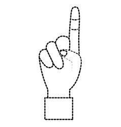 hand show forefinger finger pointing first vector image