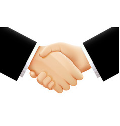 Handshake on white background vector