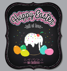 happy easter background vintage design vector image