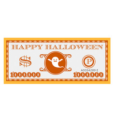 happy halloween dollar bill design vector image