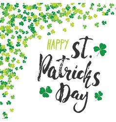 happy st patricks day vintage greeting card hand vector image