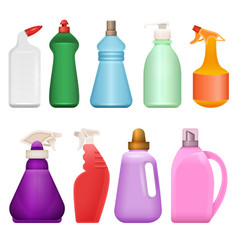 Household chemical goods - modern realistic vector