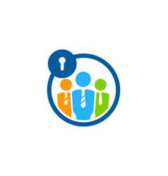 Job security logo icon design vector
