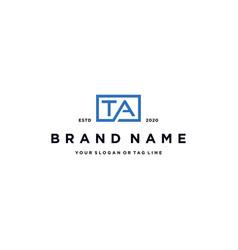 Letter ta logo design vector