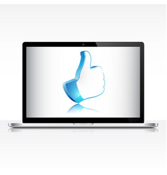 like symbol on laptop screen vector image