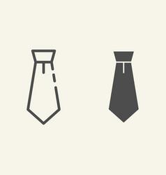 necktie line and glyph icon tie vector image