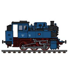 Old blue tank engine locomotive vector