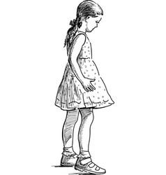 One little girl vector