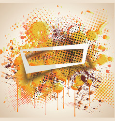 Paper frame on abstract blot spot background ink vector