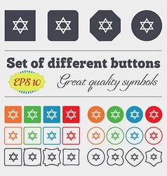 Pentagram icon sign big set colorful diverse vector