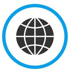 Planet Globe Icon vector image