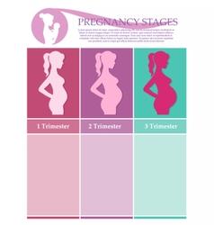 Pregnant female silhouettes vector