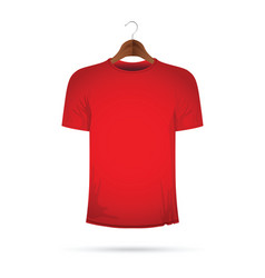 red t-shirt on a coat hanger vector image