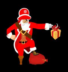 santa claus pirate christmas buccaneer gift box vector image