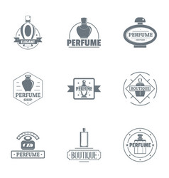 Scent of a woman logo set simple style vector