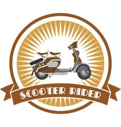 Scooter emblem vector