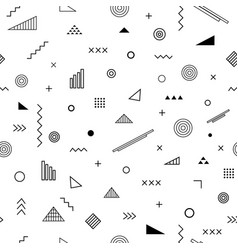 Seamless pattern with memphis style vector