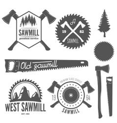 Set badge labels or emblem elements vector