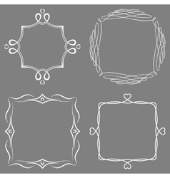 Set of nice decorative frames vector image
