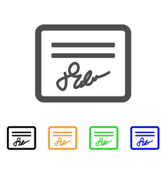 signed cheque flat icon vector image