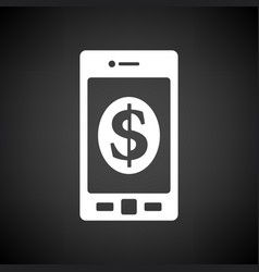 Smartphone with dollar sign icon vector