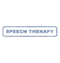 Speech therapy textile stamp vector