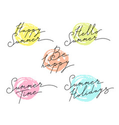 summer emblems lettering vector image