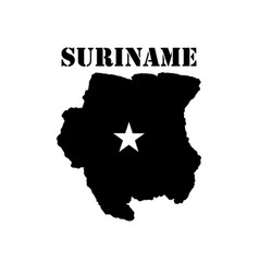 Symbol of suriname and map vector