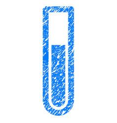 test tube grunge icon vector image