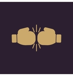 The boxing icon Sport symbol Flat vector
