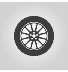 The tire icon Wheel symbol Flat vector image