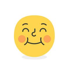 trendy shy emoji smile eps10 vector image