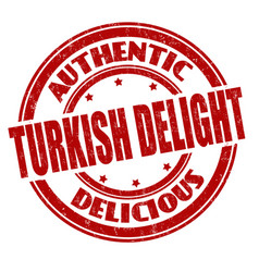 turkish delight sign or stamp vector image