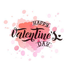 valentine s day text vector image