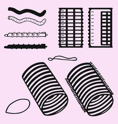 velcro rollers curler vector image