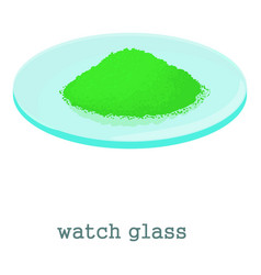 Watch glass icon cartoon style vector