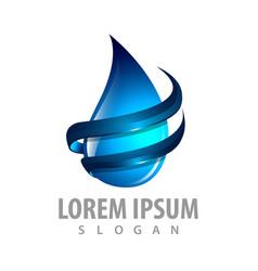 water drop swoosh logo concept design symbol vector image