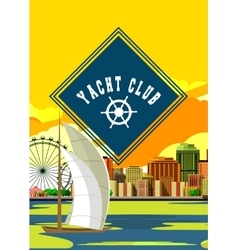 Yacht club flyer vector image