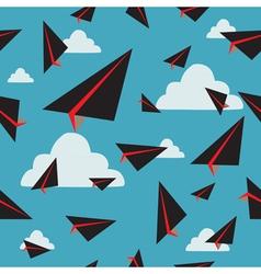 Black paper plane fly vector