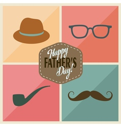Fathers accessories vector image